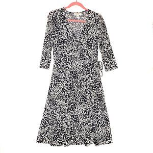 Talbots Faux Wrap Fit & Flare Dress Size 10P